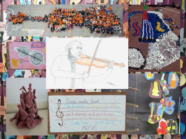 Imagen del trabajo Violines por la Paz de los niños y niñas del CPEE San Antonio de Ceuta. Pulsa para ver más...