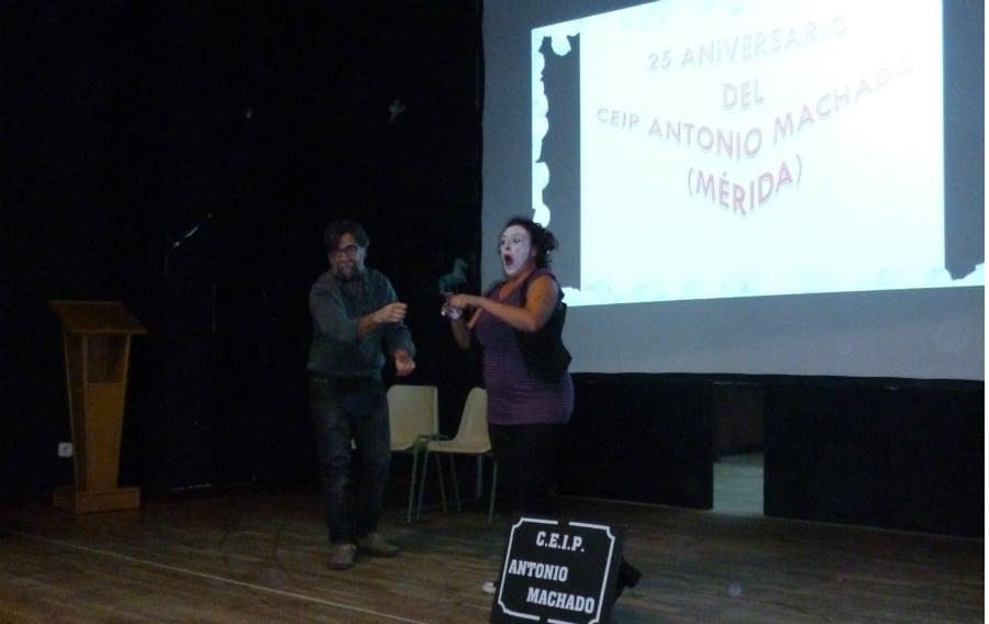 Acto de celebración del 25º aniversario del CEIP Antonio Machado de Mérida (Badajoz)