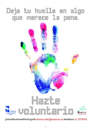 Cartel para la promoción del Voluntariado. Ayuntamiento de Las Rozas de Madrid / FYME