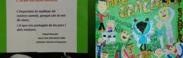 Mural realizado por los niños y niñas de la Escola Mestre Morera