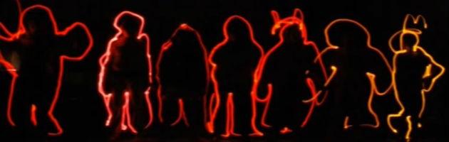 Taller MUS-E de light painting en el CEIP Miguel de Unamuno de Madrid
