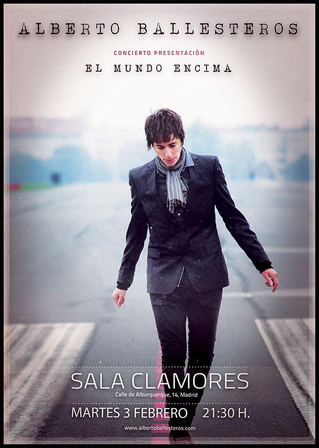 Cartel del concierto de Alberto Ballesteros