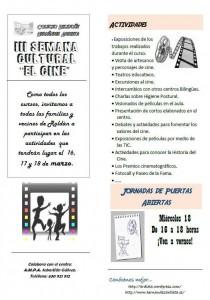 III Semana Cultural 'El Cine' CEIP Hernández Ardieta
