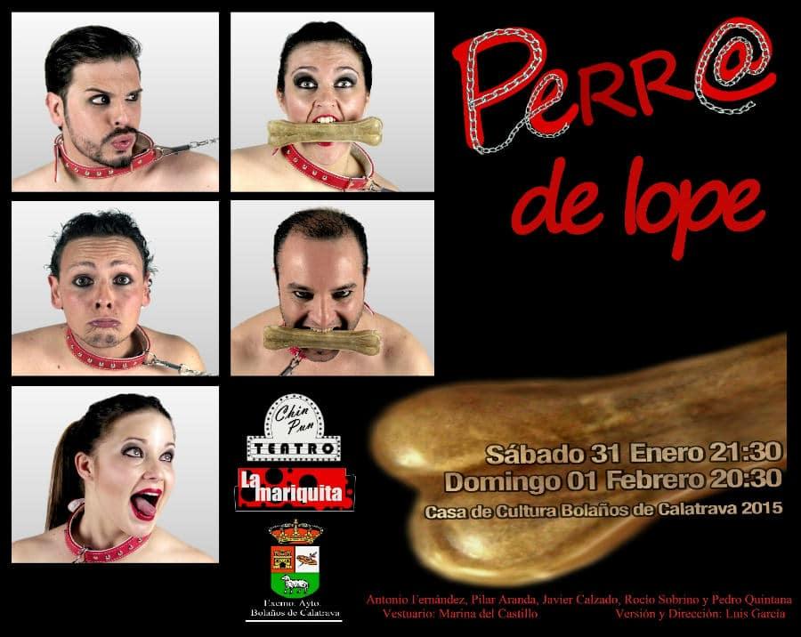 Cartel de la obra Perro de Lope.