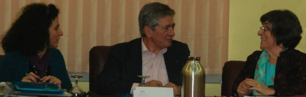 Enrique Barón, en el centro, en la inauguración del Encuentro MUS-E en Magalia de 2014