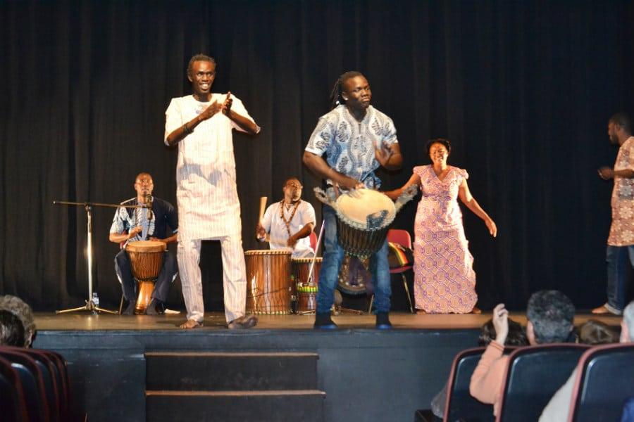 El grupo musical Yarama en la inauguración de Vallecas, Calle del Libro 2015