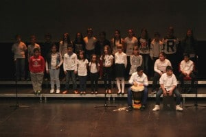 Actuación infantil en el Día MUS-E Madrid 2015, en Getafe