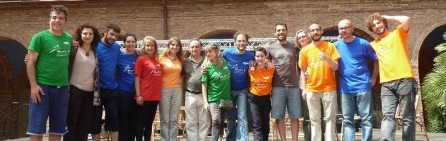 Representación de artistas y centros MUS-E Catalunya en el Día MUS-E 2015