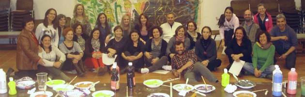 Taller de artes plásticas en el pasado Encuentro MUS-E Magalia 2013.