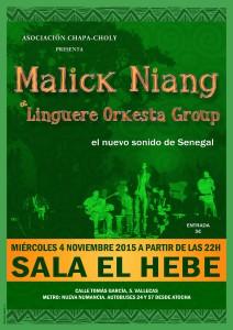 Malick Ndiang: concierto noviembre 2015