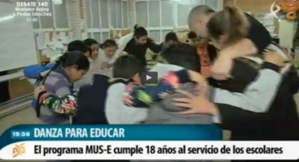 Los niños MUS-E del Santa Engracia, en la tele extremeña