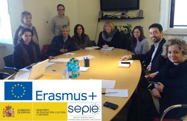 Reunión de coordinación Integr-Arte Erasmus+ en Roma