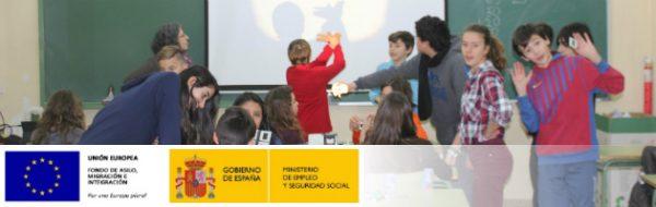 Sesión MUS-E con diapositivas en el IES Tierno Galván de Leganés