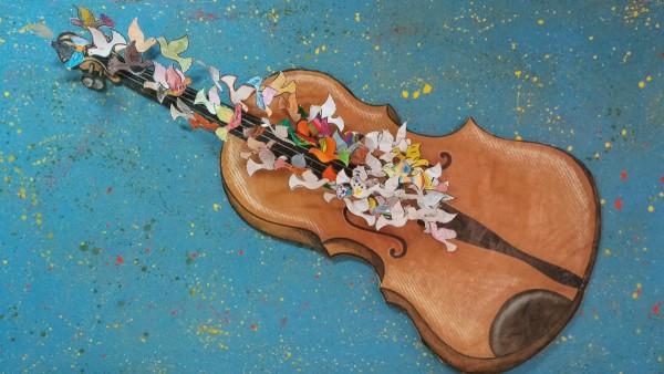 Violines por la paz en el Miguel Hernández de San Fernando de Henares