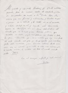 Carta de Sofía Gandarias a Yehudi Menuhin