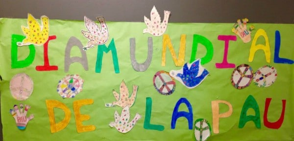 Día de la Paz y Yehudi Menuhin en El Prat de Llobregat