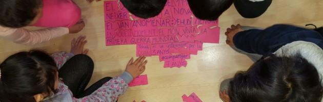 Sesión MUS-E de Elisabet Sopesens en la Escola Elisenda de Montcada de Barcelona.