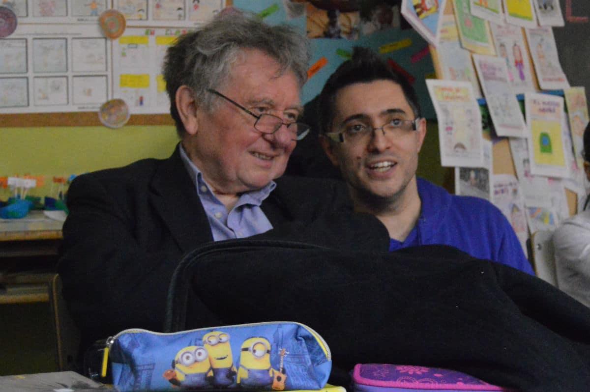Werner Schmitt (izquierda), en una sesión MUS-E del CEIP Miguel Hernández de Madrid