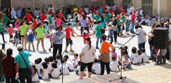 Día MUS-E de la primavera en la Escola Milà i Fontanals de Barcelona