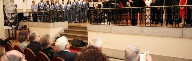 El concierto finalizó con los agradecimientos de Enrique Barón a los creadores del Programa MUS-E.