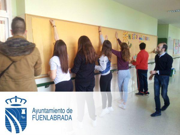 Mural Viajero de la Campaña de Derechos Humanos Recreo-Arte del Ayuntamiento de Fuenlabrada y la FYME.