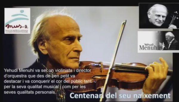 Centenario de Yehudi Menuhin en el IES Pau Clarís de Barcelona