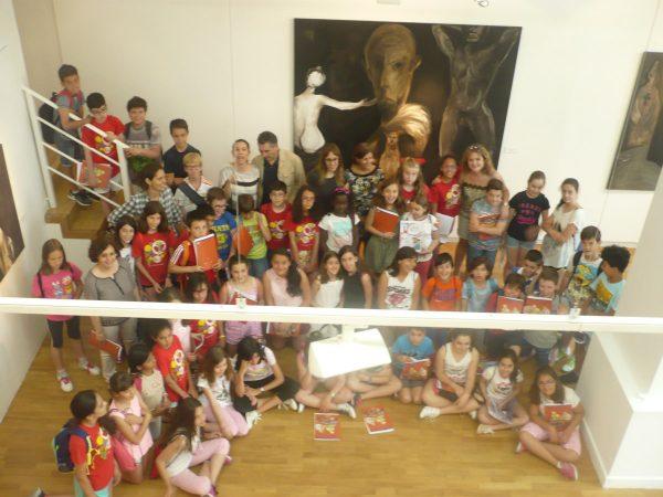 Niñas y niños del CEIP Federico García Lorca de Leganés