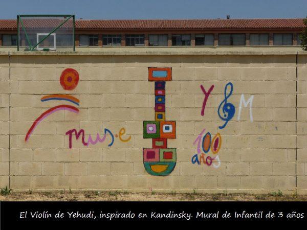 Mural de un Violín por la Paz del CEIP Menéndez Pidal de Sevilla. Enviado por Beatriz Jurado.