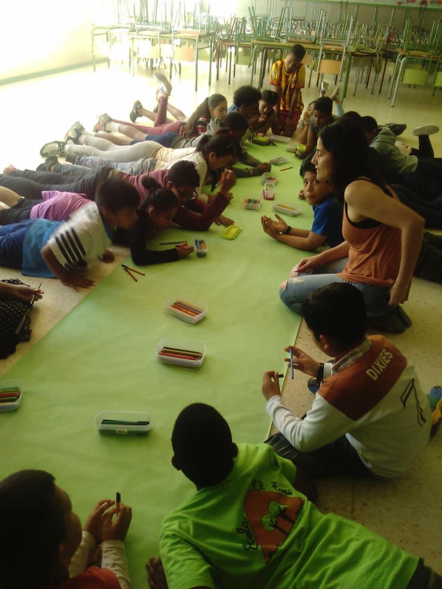 Sesión MUS-E en la Escola El Turó