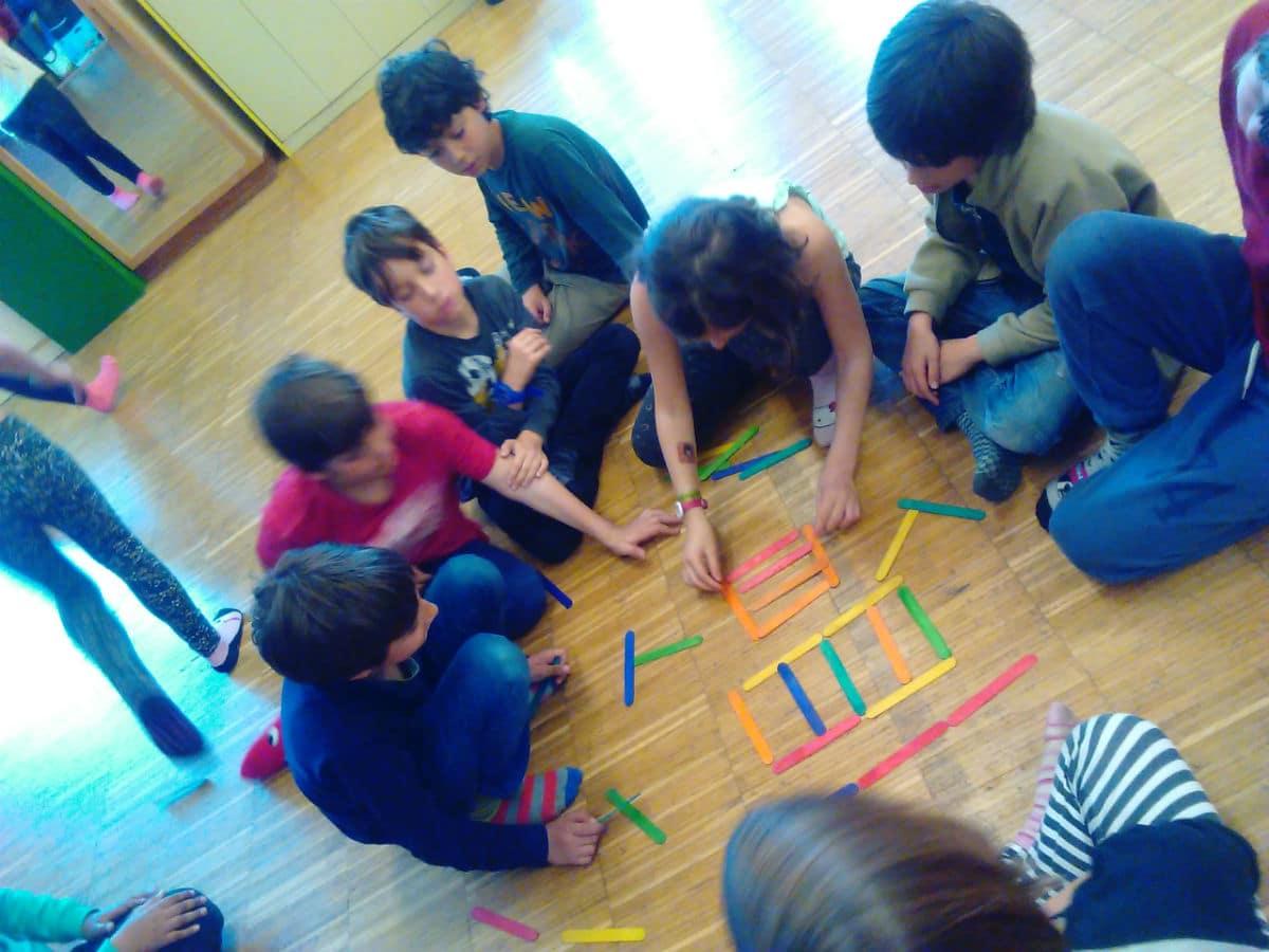 Sesión MUS-E en la Escola Parc de la Ciutadella