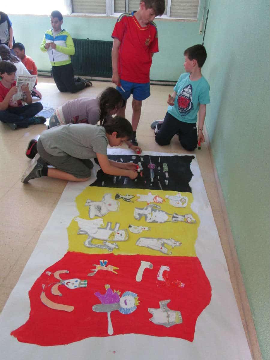 Intercambio de banderas entre Flandes y España con metodología MUS-E