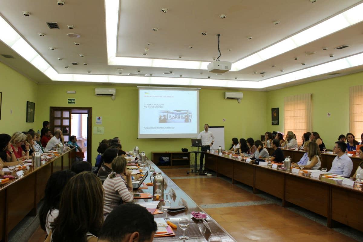 Presentación de proyectos europeos Erasmus+, por Antonio Merino