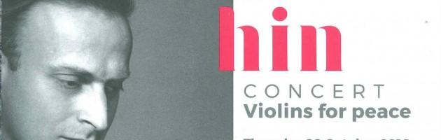 Imagen del programa de mano del concierto 'Violins for Peace' celebrado en Bruselas