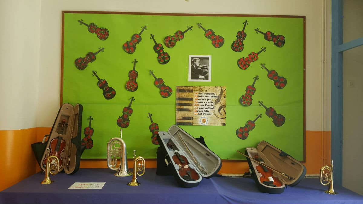 Instrumentos donados por Consolat de Mar a la Escola Cal Maiol