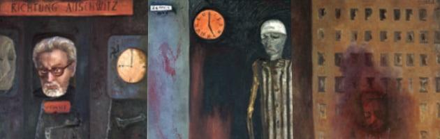 Obras de la serie 'Primo Levi, La Memoria' de Sofía Gandarias.
