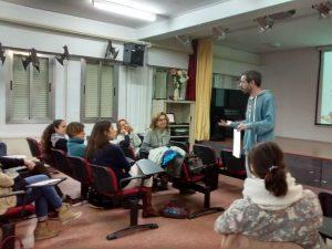 Ramiro Adrada, artista docente, impartió esta formación MUS-E.