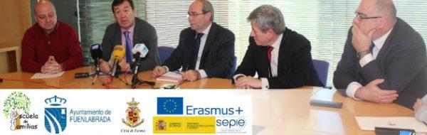 Presentado en Fuenlabrada el Proyecto Escuela de Familias Erasmus+