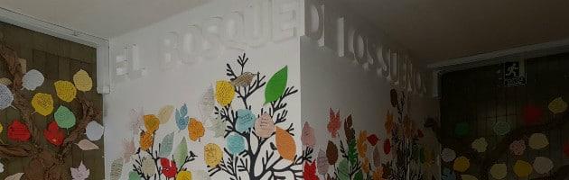 Fragmento del Bosque de los Sueños diseñado por los docentes del IES José de Churriguera de Leganés