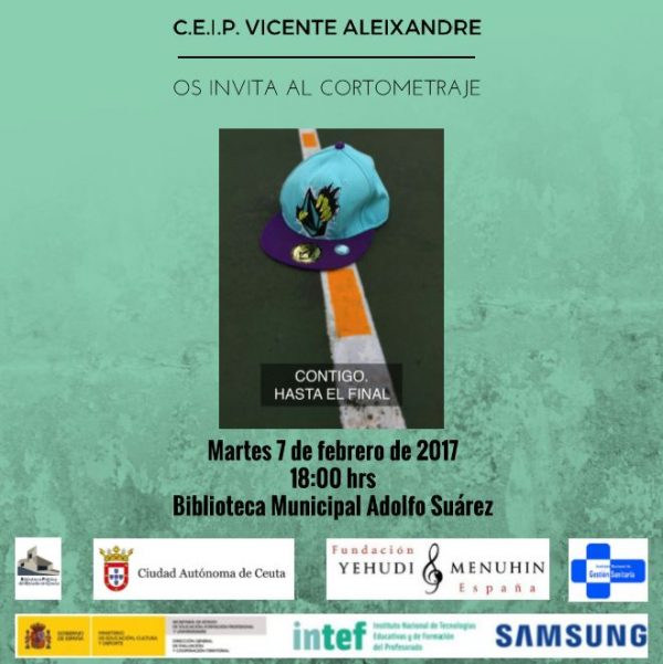 'Contigo, hasta el final', un corto de las alumnas y alumnos del CEIP Vicente Aleixandre de Ceuta