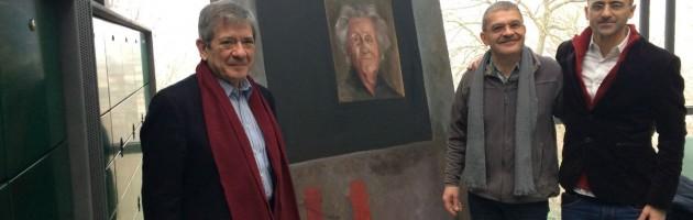 Enrique Barón (Legado Gandarias), Guy Krivopissko (Museo de la Resistencia) y Antonio Merino (FYME)