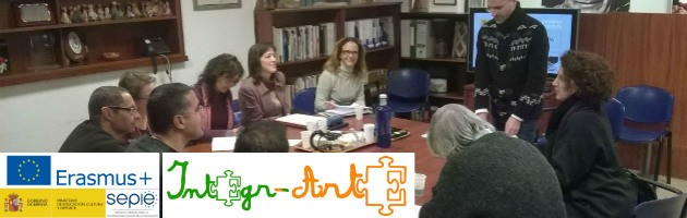 Reunión Integr-Arte Erasmus+ en la FYME, enero 2017