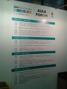 Programa del AULA FORUM 2017