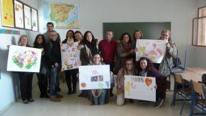 Personal docente del CEIP Menéndez Pidal de Sevilla en una sesión MUS-E de formación