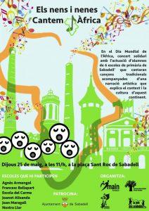 Concierto por el Día de África de la Coraleta de Sabadell