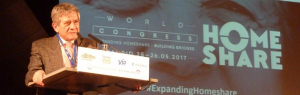 Conferencia de Enrique Barón en el World Home Share Congress 2017, celebrado en Madrid