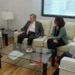 Momentos previos a la firma del convenio entre la FYME y la Diputación de Badajoz
