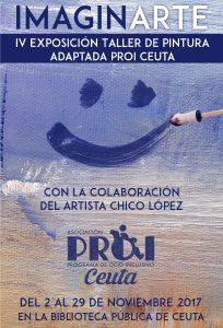 Detalle del cartel de 'Imaginarte', IV Exposición Taller de Pintura Adaptada PROI Ceuta