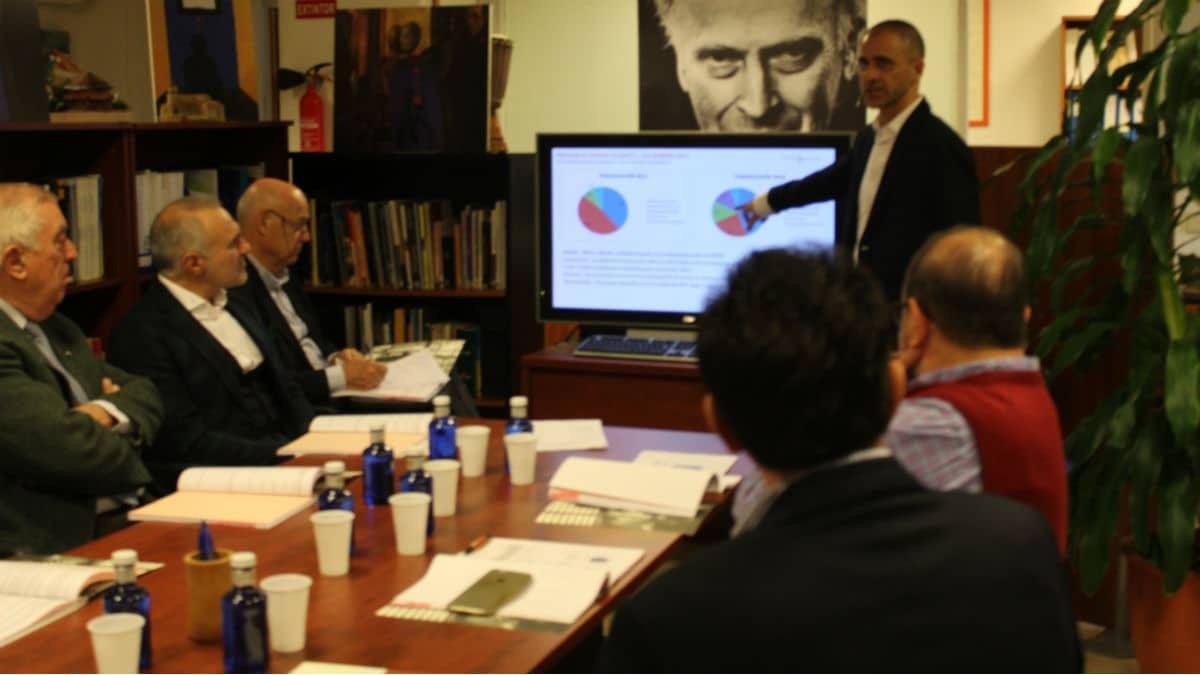 Exposición del Plan Estratégico de la FYME en la reunión del Patronato de diciembre de 2017