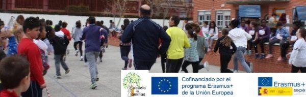Escuela de Familias Fuenlabrada: Carrera solidaria en el CEIP Antonio Machado