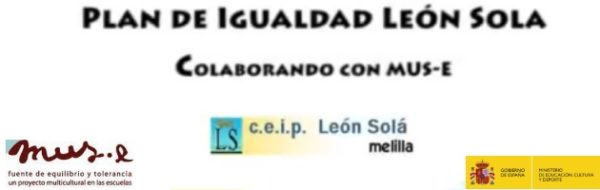 Plan de igualdad del CEIP León Solá en colaboración con MUS-E